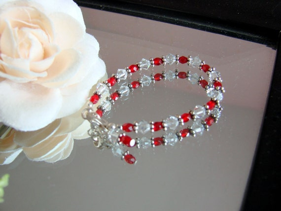 Ruby baby bracelet