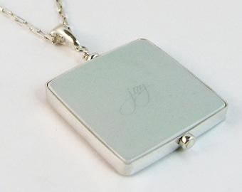 Photo Pendant Necklace - Large - FP1FlN - Personalized Photo Necklace, Custom Photo Jewelry, Custom Keepsake Jewelry, Sympathy Jewelry