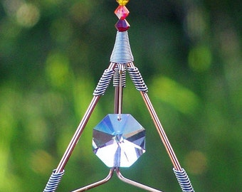 7 Chakras - Bagua Suncatcher - Swarovski Crystals - Feng Shui