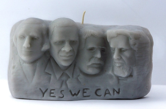 Obama Mt. Rushmore Candle