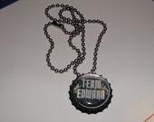 CLEARANCE Team Edward Bottlecap Necklace