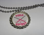 Field Hockey Bottlecap Necklace
