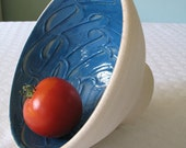 Glossy Swirly Blue Bowl