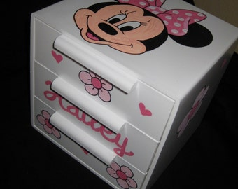 personalized bow holder jewelry box minnie mouse