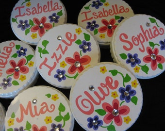 personalized trinket box party favor multi bling flower