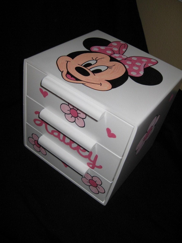 Personalized bow holder jewelry box minnie mouse for Minnie mouse jewelry box