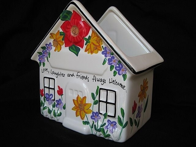 Personalized Mail Holder Ceramic House Great For Teachers