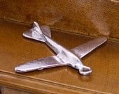 Airplane pendant Charms 4pcs .... silvertone -- shop closing sale