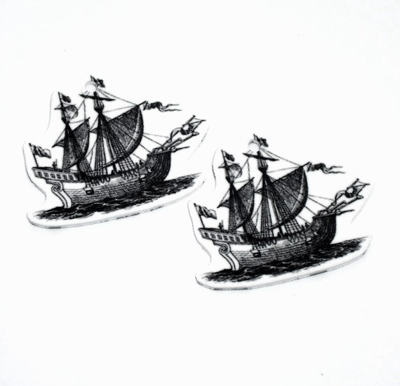 Ship Charms 2pc (OB1007) supplies .. shop closing SALE