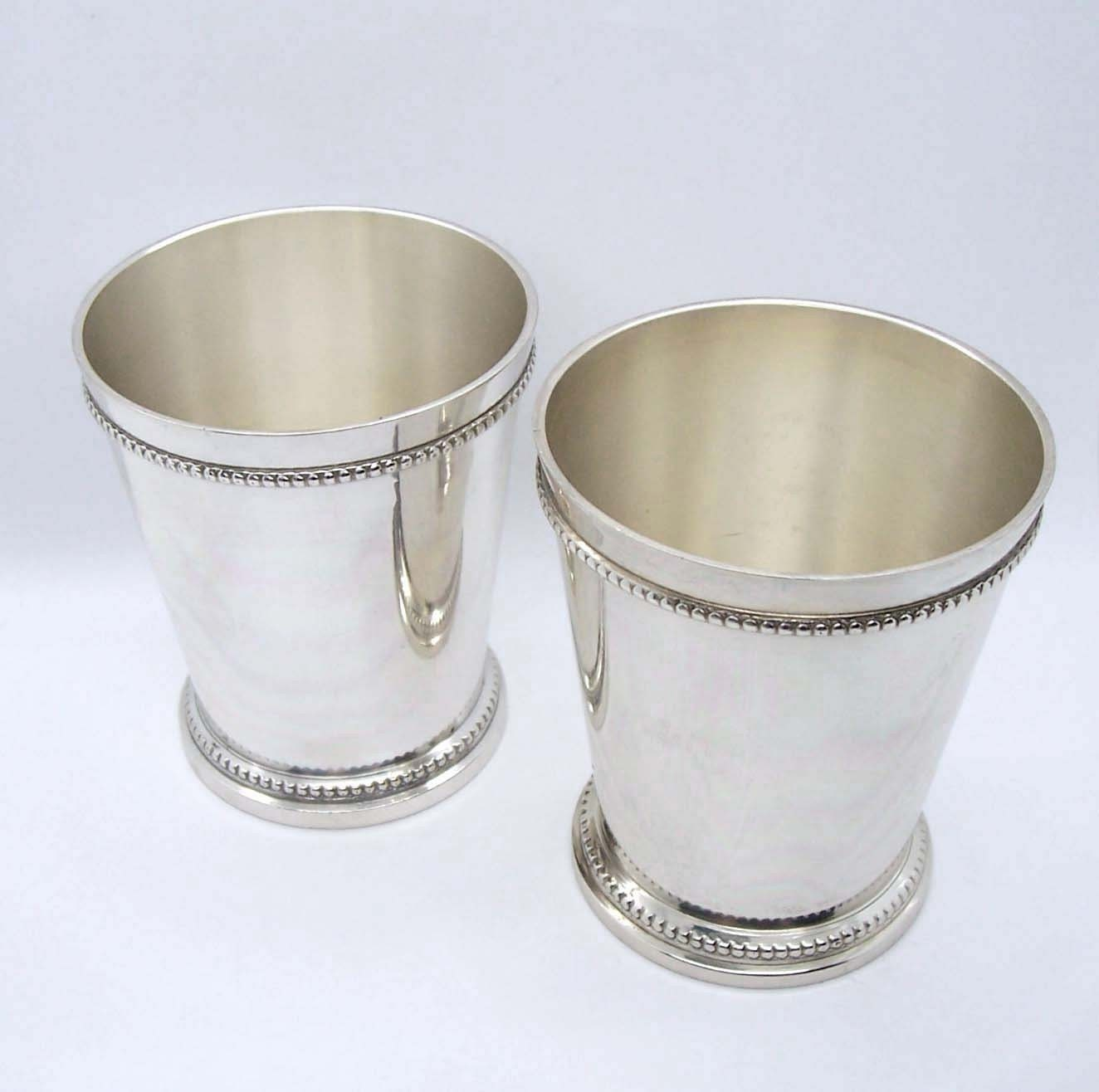 Sale Mint Julep Cups Or Vases Silver Plated By