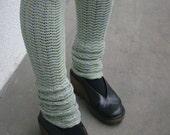 Grey Blue Green Leg Warmers