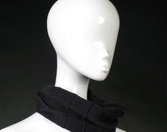 Loop Scarf Charcoal Neck warmer cowl infinity scarf Unisex fashion pure merino neckwear