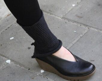 Leg Warmers Woolen Merino Spats Boot Cuffs