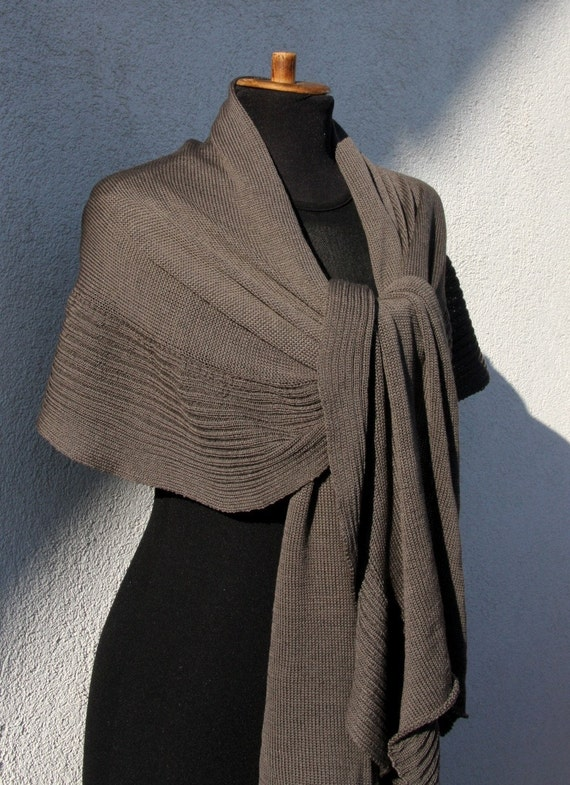 Taupe Teak Brown Shawl Wrap