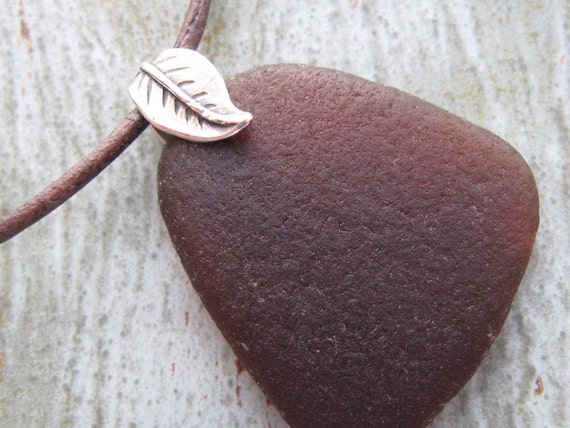 Brown Seaglass Necklace - The Cortez Collection