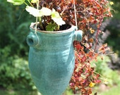 Reserved for Susie: Hanging Planter  Five Inches in Diameter in Cerulean Blue Stoneware