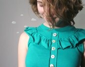 Eco friendly tank embellished romantic ruffle top small FRESHLY PICKED