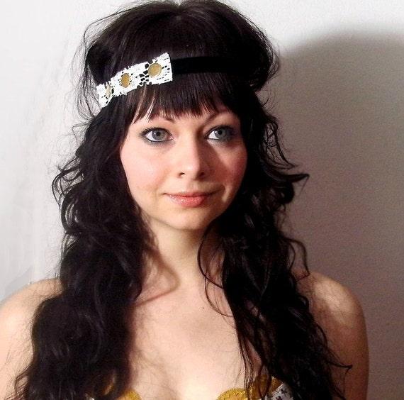 Headband romantic eco friendly vintage lace NEW VICTORIAN
