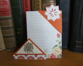 Orange and Cream Corner Bookmarks Set of Two