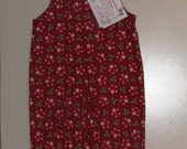 3T Christmas longall - crimson red with santas - clearance