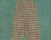 reserved for Lorrie Harmon ONLY -4T Christmas Plaid longall -clearance