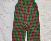 Size 3-6 mo infant boy longall - Christmas Plaid Collection-clearance