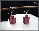 Burgundy Earrings (w. 925 STERLING SILVER earwires)