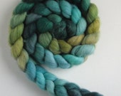 Polwarth/Silk Roving (Top) - Handpainted Spinning or Felting Fiber, George