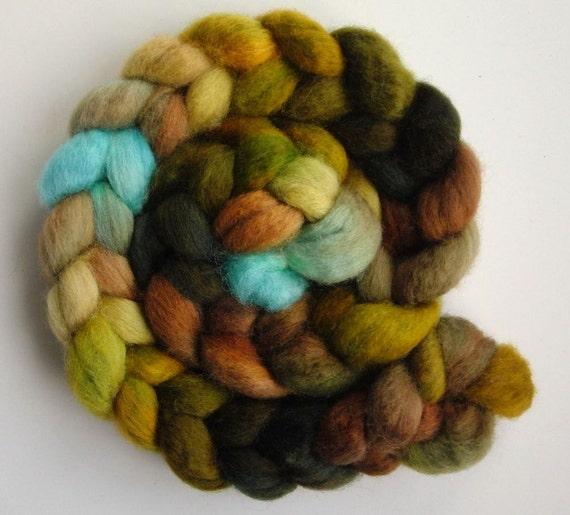 BFL Wool Roving (Top) - Handpainted Spinning or Felting Fiber, Mountain View