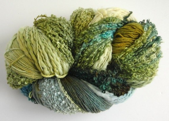 Knitting Kit, Multicolor, Wool, Mohair, Silk, Superfluity Mobius Wrap,  Bamboo and Dogwood, Lynne Vogel