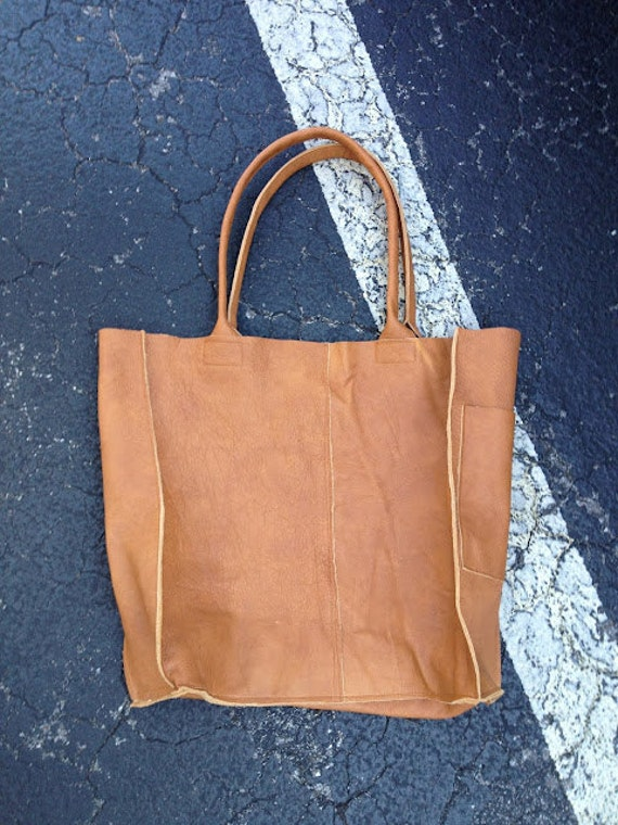 Golden Tan Leather Tote