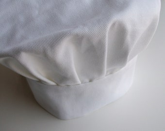 Custom Fit  Pleated White Chef Hat