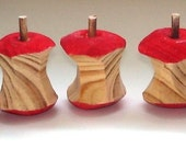 Handmade wooden apple core