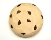 Wooden Toy Chocolate Chip Cookie All natural handmade Teether for baby