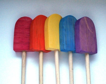 Fruit Popsicle handmade wooden play food toy