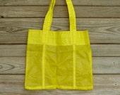 Briefcase Bag Yellow Parachute Slider Ripstop Nylon