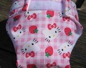 Baby Doll Diapers -Set of 3 Hello Kitty Diapers-Save on Shipping -Made to Order-Pick your choice of pattern