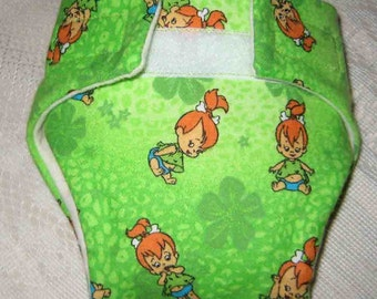 Baby Doll Diaper/Wipe (Cloth) - Little Girl Playing - Fits Bitty Baby, Baby Alive,Cabbage Patch, American girl Dolls and More