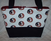 FSU Florida State Seminoles Purse Tote Diaper Bag Design Your Own Custom Made to Order Choose your own size