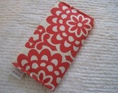 CUSTOM MADE to Order Checkbook Cover or Coupon Organizer Red Cherry Wallflower Floral