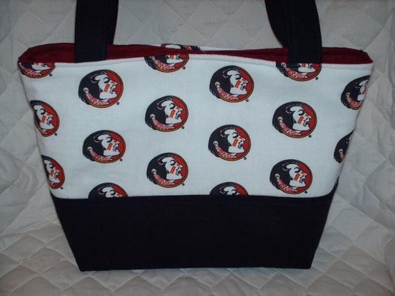items similar to fsu florida state seminoles purse tote diaper bag design your own custom made. Black Bedroom Furniture Sets. Home Design Ideas
