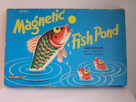 Items similar to vintage magnetic fish pond game from for Koi pond game online