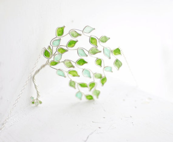 Lime Tree Necklace, Mint Green Jewelry, Healing Gift, Get Well Gift