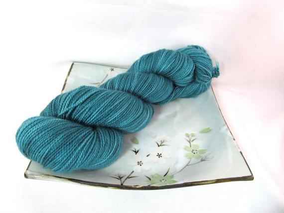 Sock Yarn - Iced Teal - Pebble Sock