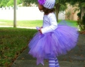 Perfectly Purple SEWN Tutu--AS SEEN ON THE VIEW--custom made for sizes nb-5--matching headband with flower clip included
