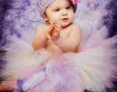Design your Dream Wee Ones SEWN Tutu sz nb through 24 months--AS SEEN ON THE VIEW-- headband set included Perfect for First Birthdays