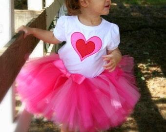 Pink Valentine Tutu baby tutu skirt toddler tutu