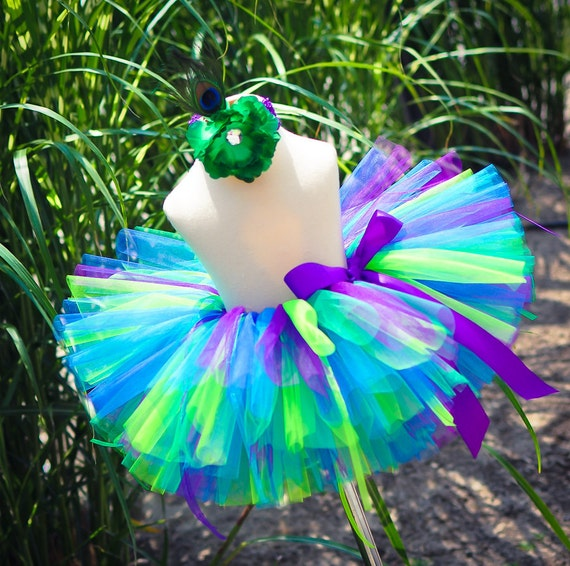 Peacock Tutu Skirt Halloween Tutu