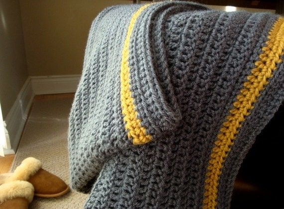 a cabin wrap blanket in CHARCOAL GREY (made to order)