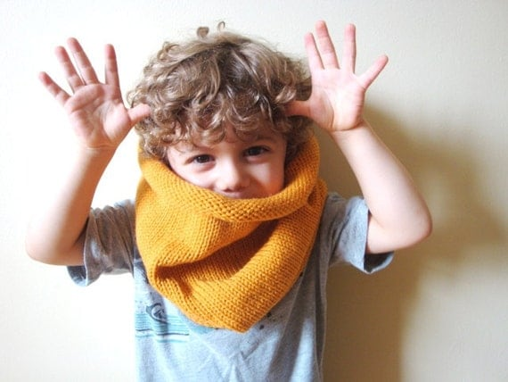 kids vegan friendly barrel cowl in CUSTOM COLOR (hypoallergenic)